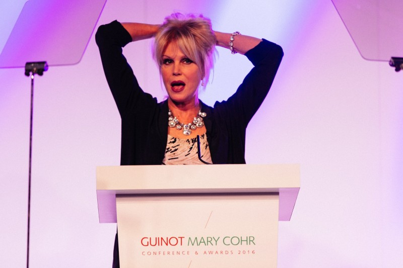 Joanna Lumley presents prestigious Beauty Awards to The Annex Beaity Clinic at Awards Ceremony in London.
